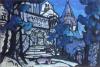 Рерих Н. К. Замок Короля Марка, Тристан и Изольда (для оперы Зимина, 1912, не поставлено)